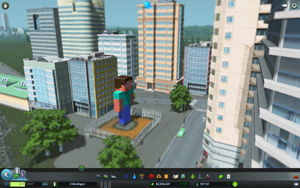 Cities Skylines - Workshop-Objekt: Steve Memorial Plaza