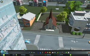 Cities Skylines - Workshop-Objekt: Church with Graveyard