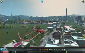 Cities Skylines - Workshop-Objekt: Exclusive Roller Coaster Park v2