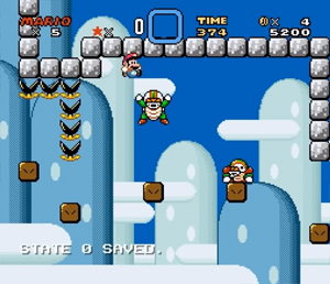 Screenshot aus Kaizo Mario World