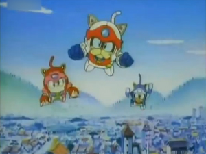 Screenshot aus Samurai Pizza Cats