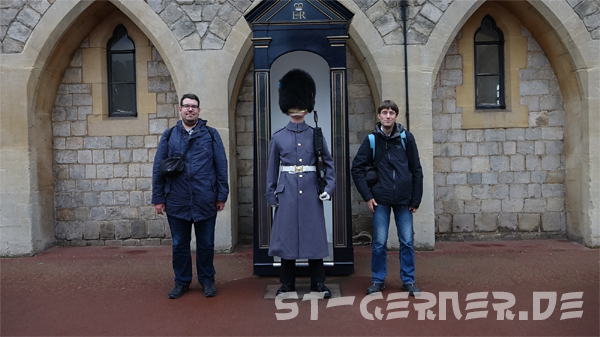 Gruppenbild mit Palastwache in Windsor